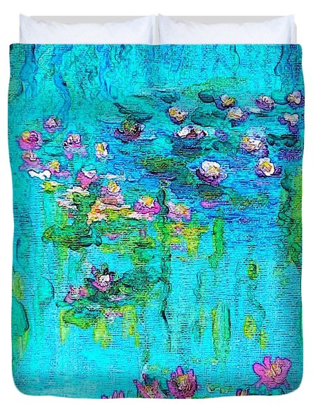 Tribute To Monet Duvet Cover by Holly Martinson