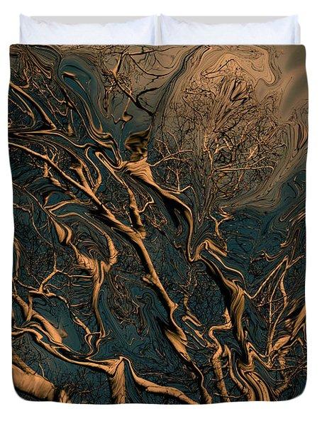 Trippy Tree Duvet Cover by Linda Sannuti