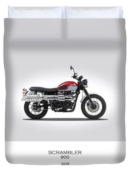 Triumph Scrambler 2015 Duvet Cover by Mark Rogan