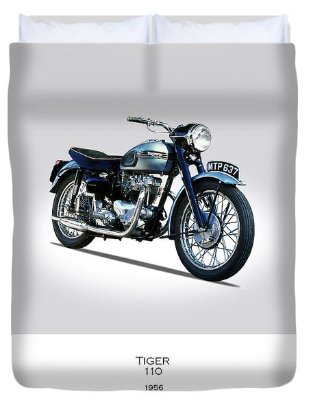 Triumph Tiger 110 1956 Duvet Cover by Mark Rogan