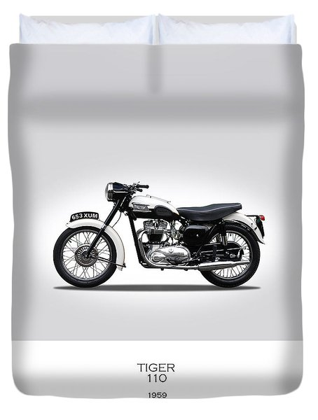 Triumph Tiger 1959 Duvet Cover by Mark Rogan