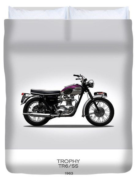 Triumph Trophy 1963 Duvet Cover by Mark Rogan