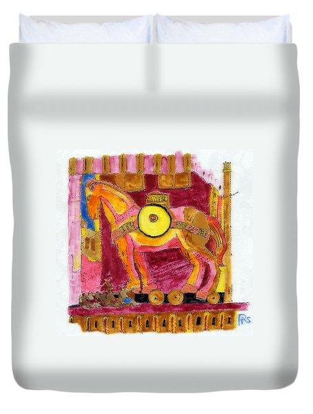 Trojan Horse Duvet Cover by Phil Strang