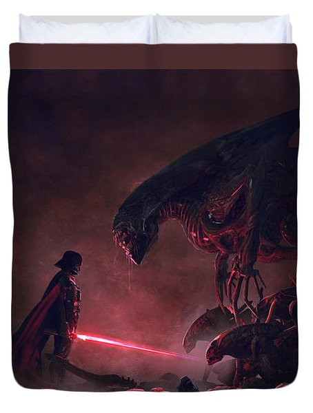 Troopers Vs Space Cockroaches 9 Duvet Cover by Guillem H Pongiluppi