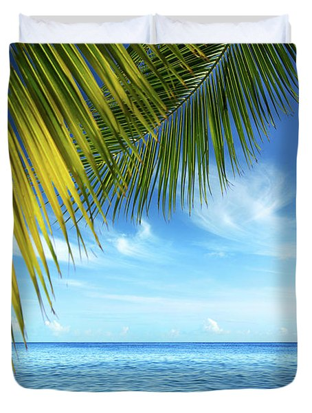 Tropical Beach Duvet Cover by Carlos Caetano