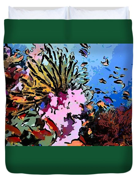 Tropical Coral Reef  2 Duvet Cover by Lanjee Chee
