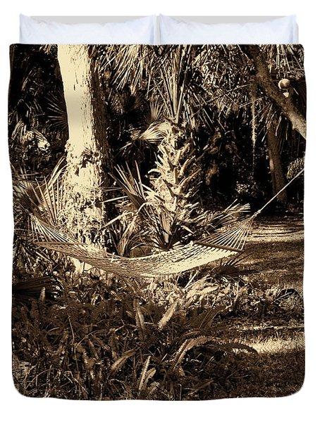 Tropical Hammock Duvet Cover by Susanne Van Hulst