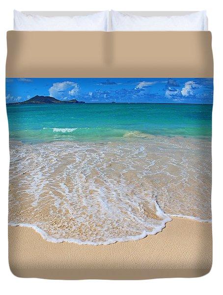 Tropical Hawaiian Shore Duvet Cover by Kerri Ligatich