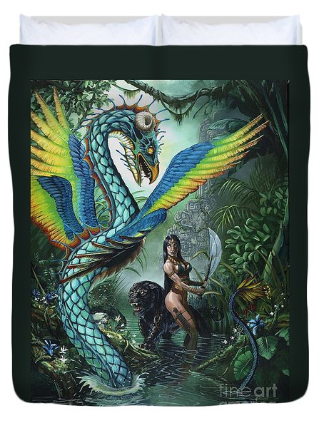 Tropical Temptress Duvet Cover by Stanley Morrison