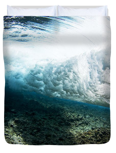 Tropical Wave Curl Duvet Cover by Dave Fleetham - Printscapes