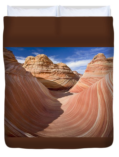 Trough Of The Wave Duvet Cover by Mike  Dawson