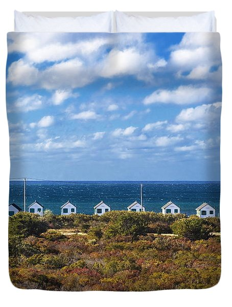 Truro Cottages Duvet Cover by John Greim