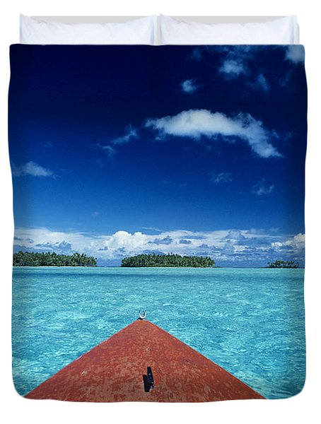 Tuamotu Islands, Raiatea Duvet Cover by William Waterfall - Printscapes