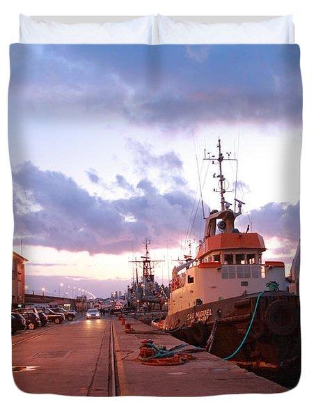 Tug Boats Duvet Cover by Gaspar Avila