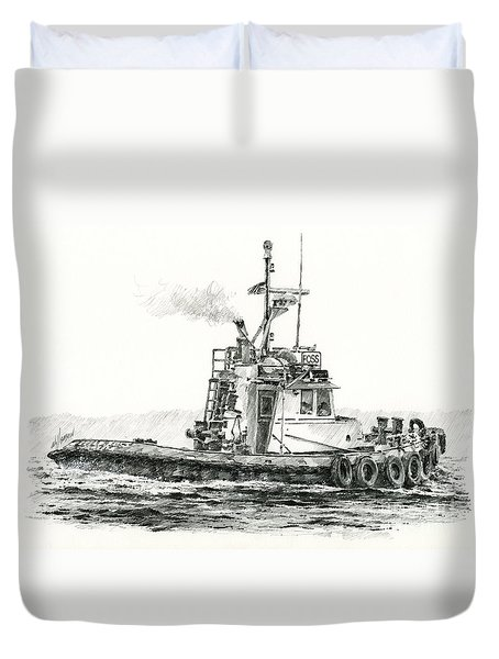 Tugboat Kelly Foss Duvet Cover by James Williamson