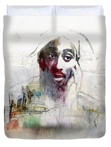 Tupac Graffitti 2656 Duvet Cover by Jani Heinonen