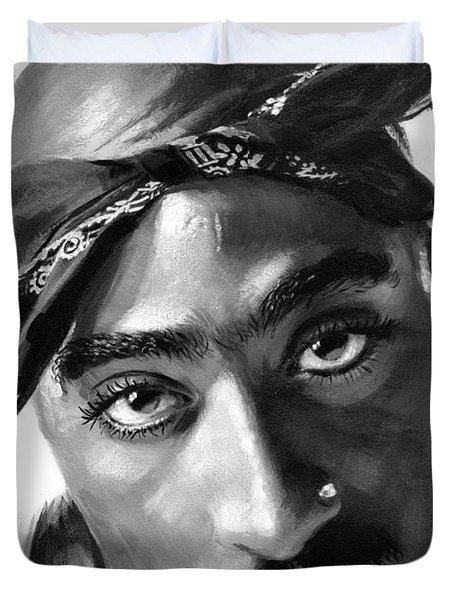 Tupac Shakur Duvet Cover by Ylli Haruni