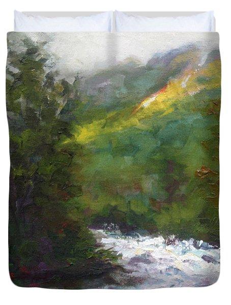 Turbulence Duvet Cover by Talya Johnson