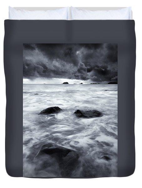 Turbulent Seas Duvet Cover by Mike  Dawson