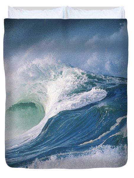 Turbulent Shorebreak Duvet Cover by Vince Cavataio - Printscapes