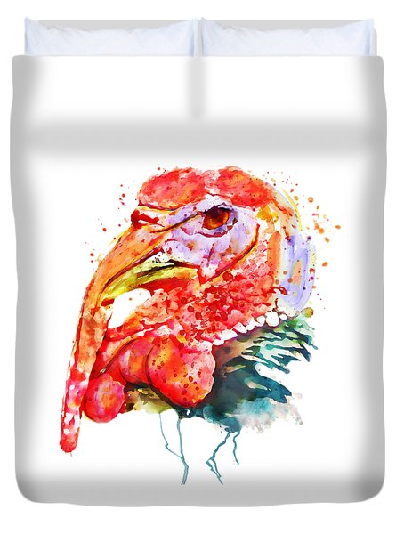 Turkey Head Duvet Cover by Marian Voicu