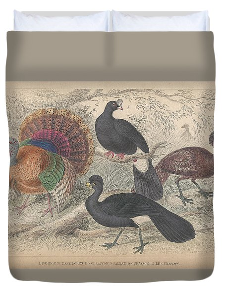 Turkeys Duvet Cover by Oliver Goldsmith