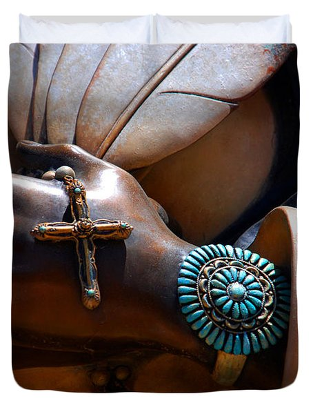 Turquoise Bracelet  Duvet Cover by Susanne Van Hulst