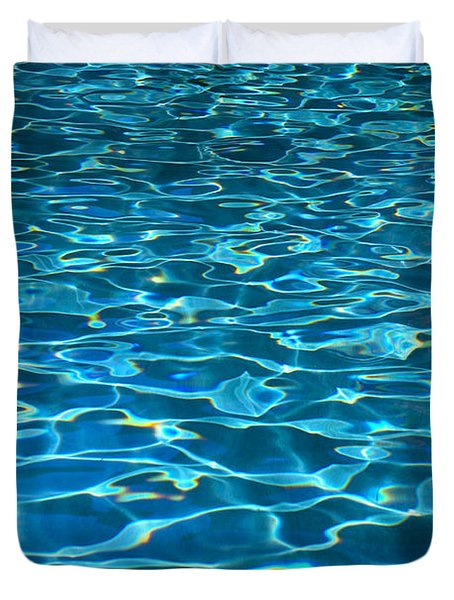 Turquoise Water Ripples Duvet Cover by Kyle Rothenborg - Printscapes