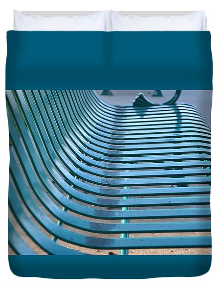 Turquoise Wave Duvet Cover by Jan Amiss Photography