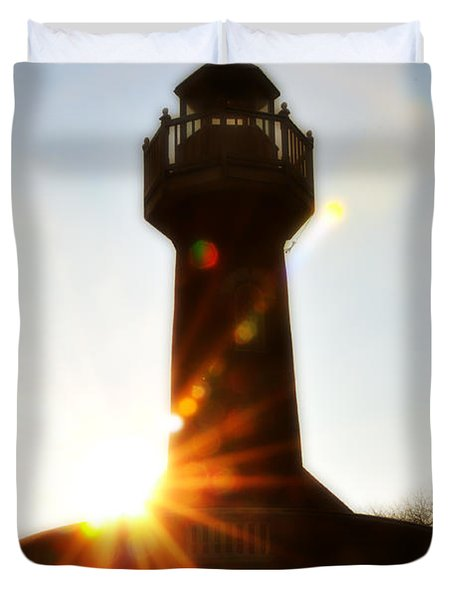 Turtle Rock Light House Duvet Cover by Bill Cannon