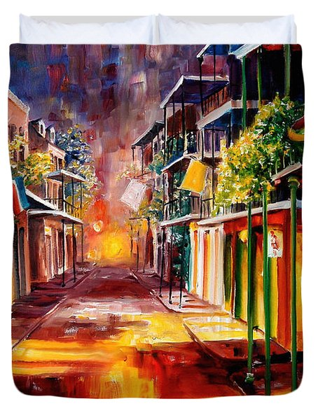 Twilight In New Orleans Duvet Cover by Diane Millsap