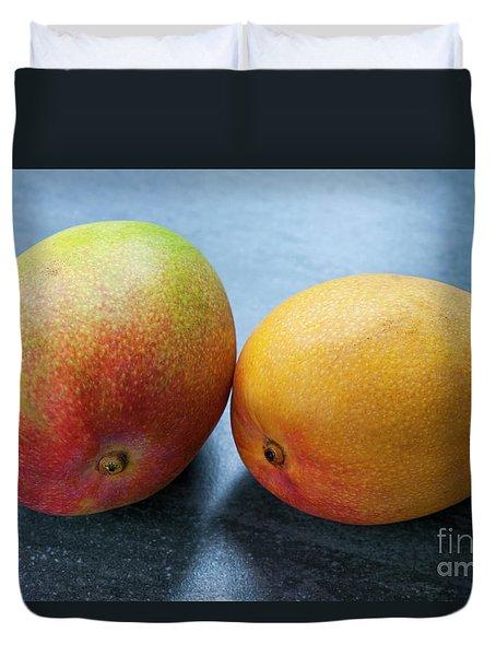 Two Mangos Duvet Cover by Elena Elisseeva