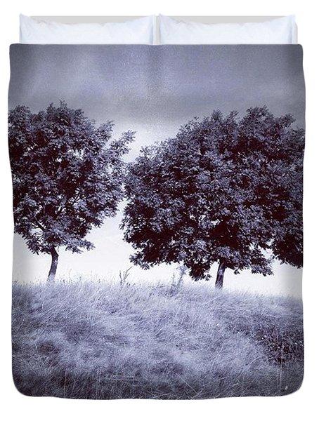 Two Rowans The Cloddies, Nuneaton Duvet Cover by John Edwards