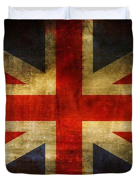UK Flag Duvet Cover by Brett Pfister