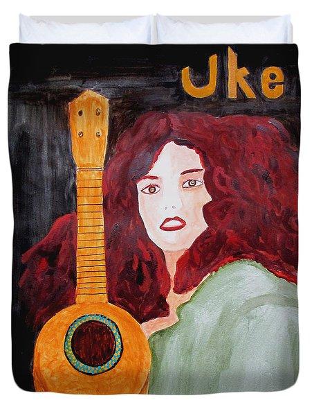 Uke Duvet Cover by Sandy McIntire