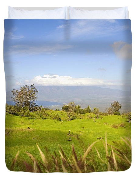 Ulupalakua Landscape Duvet Cover by Ron Dahlquist - Printscapes
