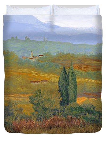 un altro pomeriggio in Toscana Duvet Cover by Guido Borelli