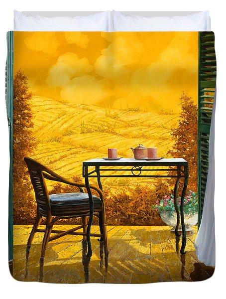 un caldo pomeriggio d Duvet Cover by Guido Borelli