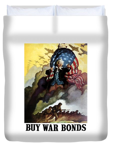 Uncle Sam Buy War Bonds Duvet Cover by War Is Hell Store