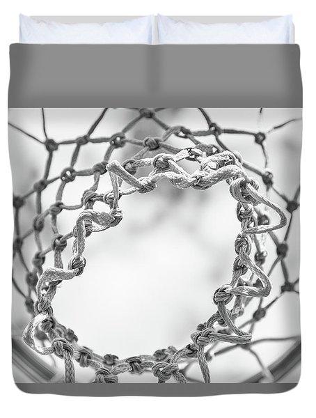 Under The Net Duvet Cover by Karol Livote