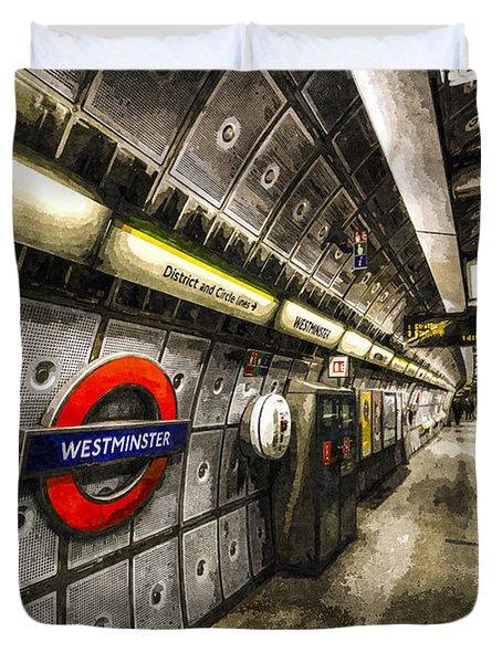 Underground London Art Duvet Cover by David Pyatt