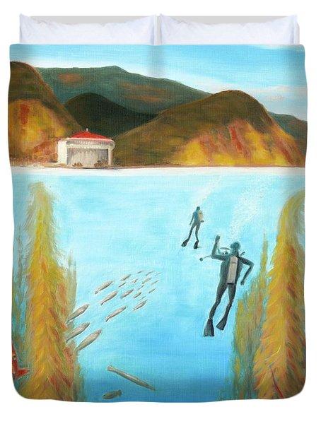 Underwater Catalina Duvet Cover by Nicolas Nomicos