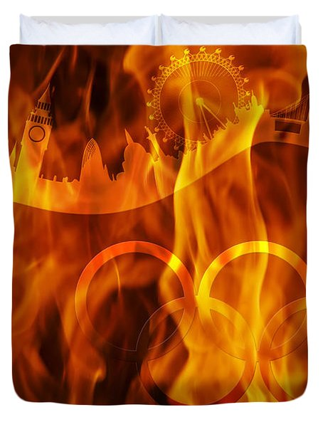 undying Olympic flame Duvet Cover by Michal Boubin