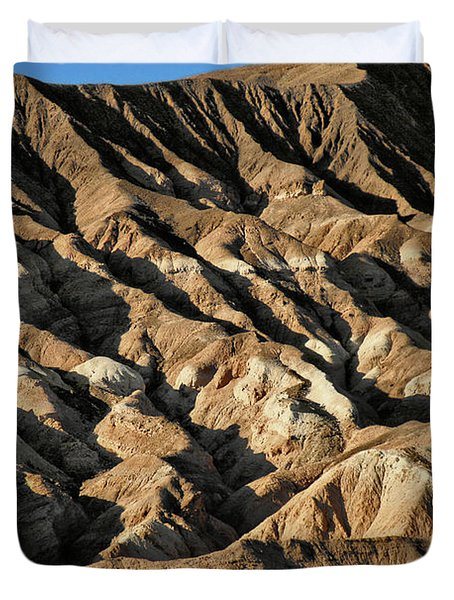 Unearthly world - Death Valley's badlands Duvet Cover by Christine Till