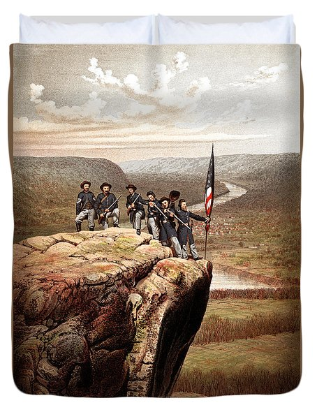 Union Soldiers On Lookout Mountain Duvet Cover by War Is Hell Store
