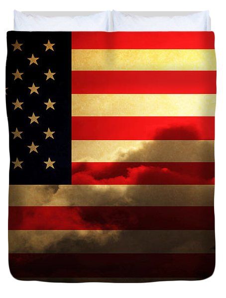 United States of America . Land of The Free Duvet Cover by Wingsdomain Art and Photography