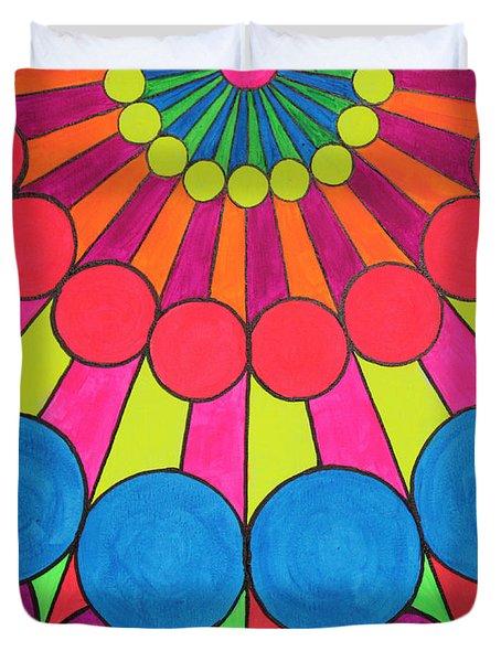 Universal Flower 1 Duvet Cover by Ann Sokolovich
