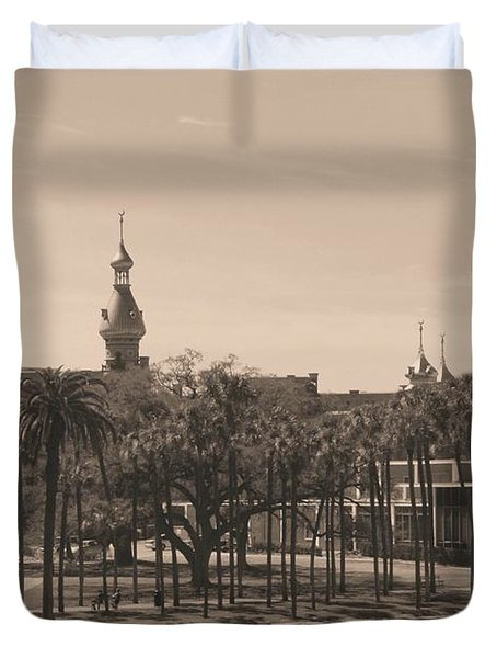 University Of Tampa With Old World Framing Duvet Cover by Carol Groenen