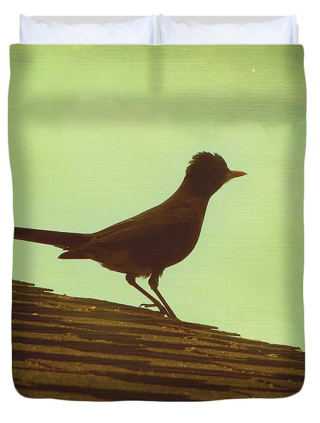 Up On A Roof Duvet Cover by Amy Tyler