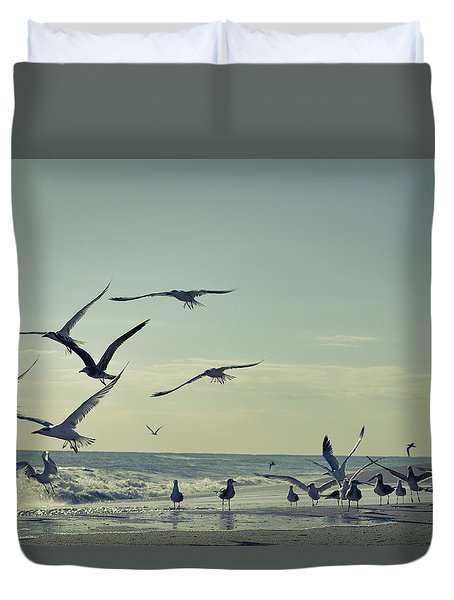 Up Up And Away Duvet Cover by Laura Fasulo